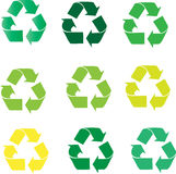 Recycling sign Stock Photography