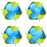 Recycling signs Royalty Free Stock Photo