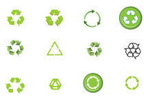 Recycling signs or icons Stock Images