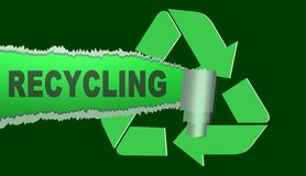 Recycling sing,illustration Royalty Free Stock Photography