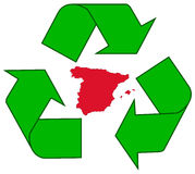 Recycling Spain Royalty Free Stock Photos