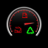 Recycling speedometer with three signs Stock Images