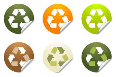 Recycling sticker icons Royalty Free Stock Image