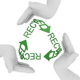 Recycling symbol. 3d render isolated on white Stock Photo
