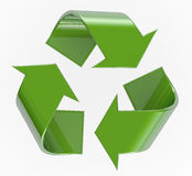 Recycling Symbol. 3D isolated on white with clipping path for easy selection Royalty Free Stock Image