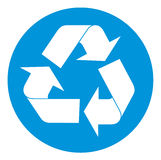 Recycling symbol. Vector illustration available Royalty Free Stock Photography