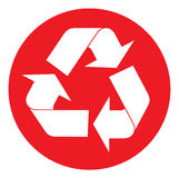 Recycling symbol. Vector illustration available Royalty Free Stock Images