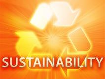 Recycling symbol. Eco environment friendly sustainability illustration Stock Image