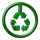 Recycling Symbol. That is isolated in white Stock Image
