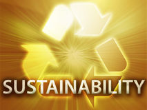Recycling symbol. Eco environment friendly sustainability illustration Royalty Free Stock Photography