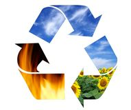 Recycling symbol Stock Photos