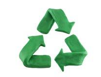 Recycling symbol. Wax green nature Stock Image