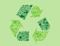 Recycling symbol Royalty Free Stock Photos