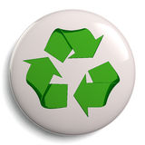 Recycling Symbol Bage Isolated on White Royalty Free Stock Photography