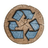 Recycling symbol 3d tag Stock Image