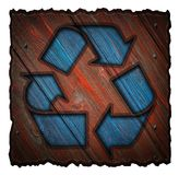 Recycling symbol 3d Stock Photography
