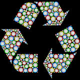 Recycling symbol drawn from the battery. Sizes Royalty Free Stock Photos