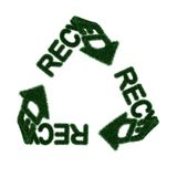 Recycling symbol from fur Royalty Free Stock Photo
