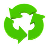 Recycling symbol. Green recycling symbol isolated on white Royalty Free Stock Photos