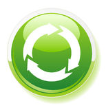 Recycling symbol icon Stock Photo