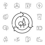Recycling symbol icon. Simple element illustration. Recycling symbol symbol design from Ecology collection set. Can be used in web royalty free illustration