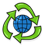 Recycling symbol illustration Royalty Free Stock Images