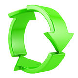 Recycling symbol. Isolated on white Royalty Free Stock Photography