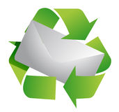 Recycling symbol and letter illustration design Royalty Free Stock Images
