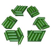 Recycling Symbol Made of Batteries Royalty Free Stock Photography
