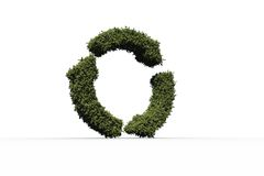 Recycling symbol made of leaves Royalty Free Stock Image
