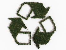 Recycling symbol made up of various trees Stock Photo