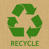 Recycling Symbol Message Royalty Free Stock Images