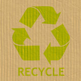 Recycling Symbol Message Stock Image