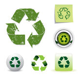 Recycling symbol set Royalty Free Stock Images
