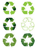 Recycling symbol set Stock Image