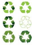 Recycling symbol set stock illustration
