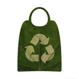 Recycling symbol and shopping bags Stock Image