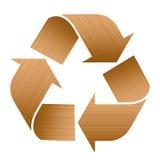 Recycling Symbol Wood Texture Stock Photos