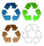 Recycling symbols Royalty Free Stock Photography
