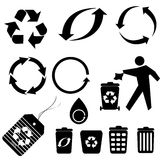 Recycling symbols Royalty Free Stock Photo