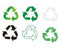 Recycling symbols Stock Image