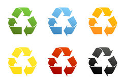 Recycling Symbols Stock Photography