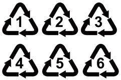 Recycling symbols Stock Images