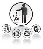 Recycling symbols. Vector illustration on white background Royalty Free Stock Images
