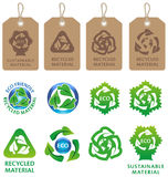 Recycling symbols and labels Stock Photos