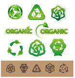 Recycling symbols and labels Stock Photography