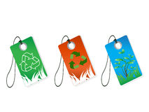 Recycling tags Royalty Free Stock Image