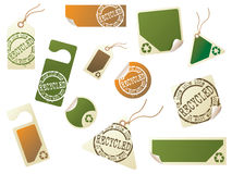 Recycling tags. Large collection of recycling tags. More in my portfolio Stock Image