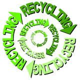 Recycling text arrows Royalty Free Stock Photography