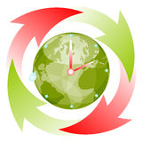 Recycling time Stock Images